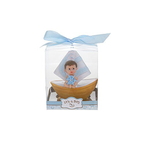 - Mega Favors 12 pcs Party Keepsake Baby Sitting In A Blue Sail Boat | Awesome Party Favors For Baby Shower Announcement Parties, Boys Or Girls Party & Other Themed Events