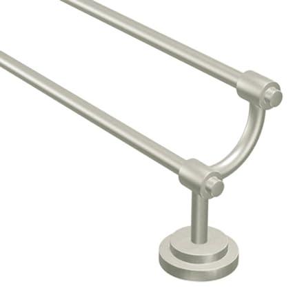 double towel bar brushed nickel. Moen DN0722BN Iso 24-Inch Double Towel Bar, Brushed Nickel Bar C
