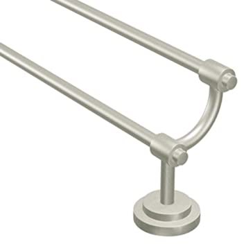 Wonderful Moen DN0722BN Iso 24 Inch Double Towel Bar, Brushed Nickel