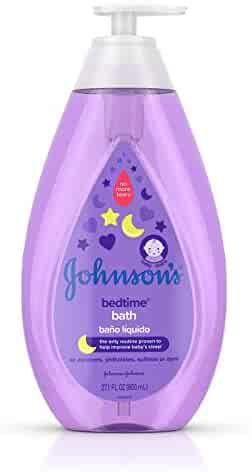 Johnson's Tear-Free Bedtime Baby Bath with Soothing NaturalCalm Aromas, 27.1 fl. oz