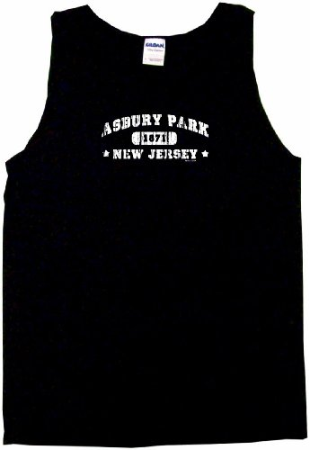 Asbury Park New Jersey Men's Tee Shirt Large-Black Tank - Shore Jersey Attire