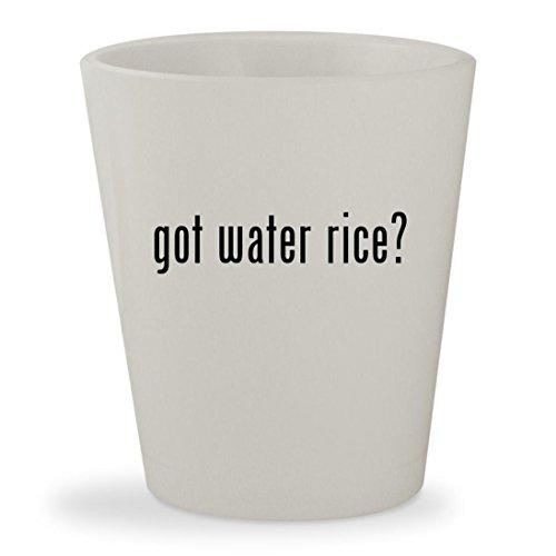 got water rice? - White Ceramic 1.5oz Shot Glass - Aroma Egg Boiler