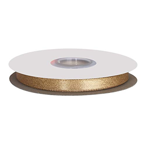 - DUOQU 1/4 inch Wide Sparkle Satin Ribbon with Gold Glitter 20 Yards Roll Raw Silk
