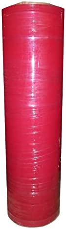 Tinted 18 x 80 Gauge Stretch Wrap | Industrial Grade Stretch Film | Tinted Shrink Wrap (Sizes/Colors) (Red 1 Pack)