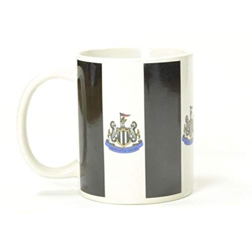 Newcastle United FC Official Striped Mug (One Size) (Black/White)