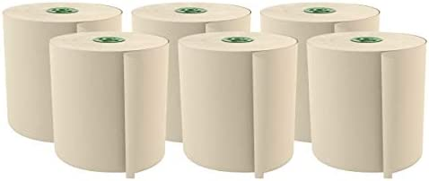 """Cascades Tandem 1-Ply Paper Towels, 7-1/2"""", 100% Recycled, Ivory, 775' Per Roll, Case of 6 Rolls"""