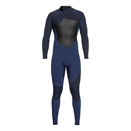 Back Zip Steamer - Quiksilver 4/3mm Syncro Series Back Zip GBS Men's Wetsuits - Iodine Blue/Slate Black/Medium Tall