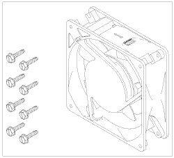 Cooling Fan (230V) for Air Techniques,Dental-EZ/Custom Air/Ramva CMF020