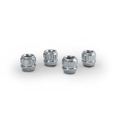 Gorilla Automotive 78621N Acorn Open End Chrome Wheel Locks (12mm x 1.25 Thread Size) - Pack of 4: Automotive