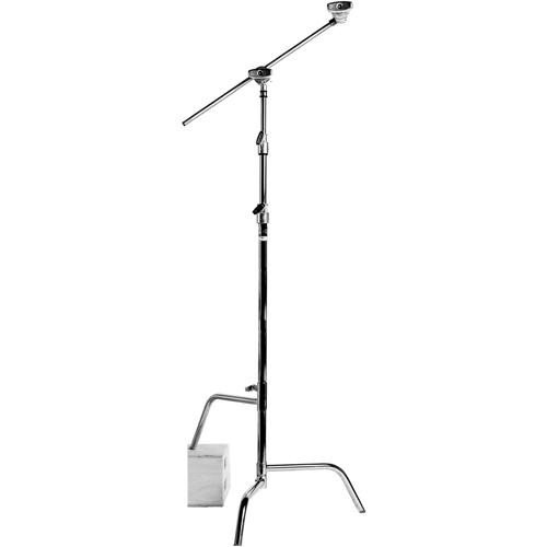Matthews 40 Inch Century Stand with Sliding Leg, Grip Head, Arm, Maximum Height 10.5 feet , Supports 22 lbs., Chrome by Matthews