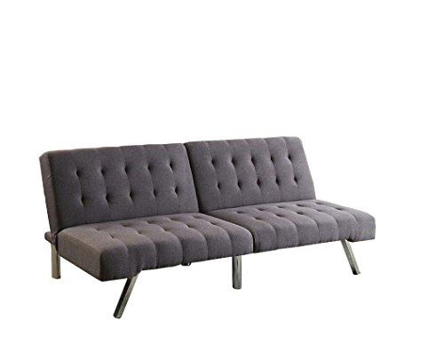 poundex-bobkona-cleavon-linen-like-polyfabric-adjustable-sofa-in-gray