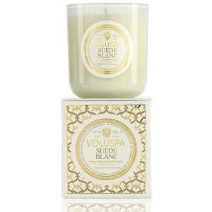 Voluspa Suede Blanc Classic Maison Candle, 100 hour 12 oz by Voluspa