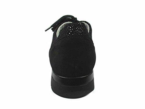 de pour femme ville noir noir Waldläufer à lacets 386007 Chaussures OwP4WEqxa