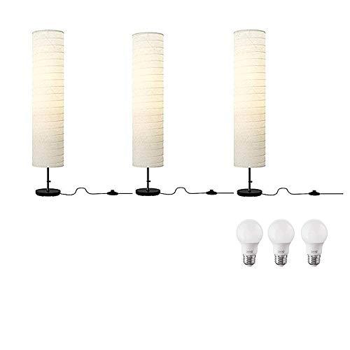 Ikea Holmo Floor Lamp and E26 LED Bulb Bundle - Includes Thr