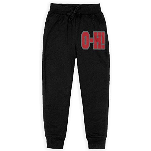 - Ohio State O-H Boys' Sweatpants Open-Bottom Teen Jogger Pants L Black