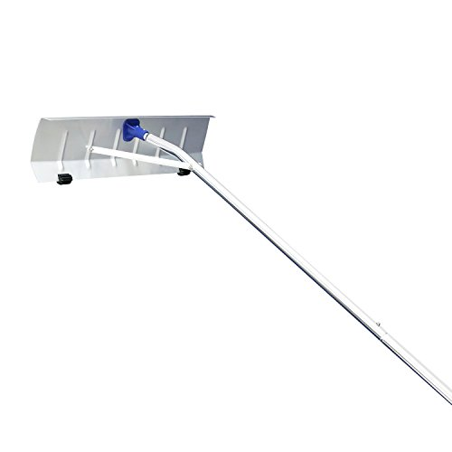 Peach Tree 21' Snow Shovel Roof Rake with 6'' by 25'' Poly Blade by Peachtree Press Inc