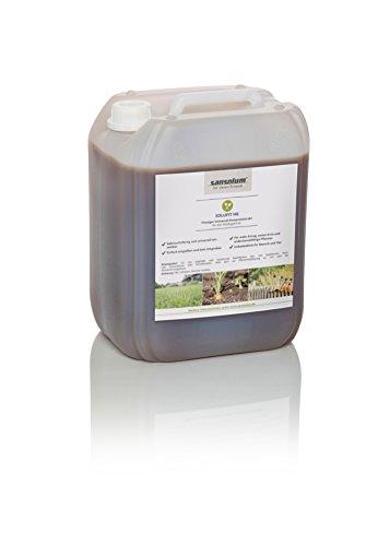 solufit HG - rein biologisches, flüssiges hochkonzentriertes Universal-Kompostextrakt für Rasen, Zierpflanzen, Rosen, Obst, Gemüse, biologische Pflanzenstärkung, 3 Liter