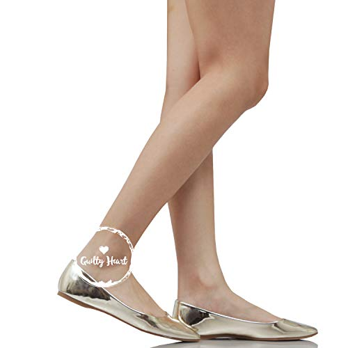 Shoes Comfortable Flats Slip Guilty Pointy Casual Ballet Gold On Toe Womens Classic zqH6dw