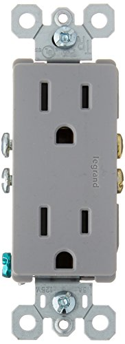 Legrand - Pass & Seymour 885TRGRY Pass and Seymour 885-Trgry 15A 125V Duplex Receptacle