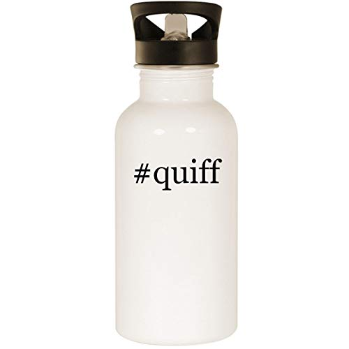 #quiff - Stainless Steel Hashtag 20oz Road Ready Water Bottle, White