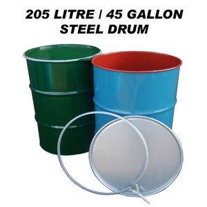 Coleccionismo Professional Sale Empty Oil Barrel Drum 205 Litres 45 Gallon Bbq Incinerator Bin Unused