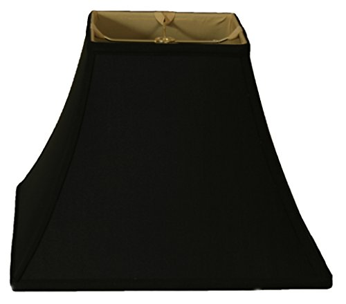 Royal Designs Square Bell Basic Lamp Shade, Black/Gold 8 x 16 x 12.5
