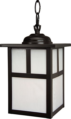 Shade Hanging Copper - Craftmade Z1841-7 Hanging Lanterns with Frosted Glass Shades, Burnished Copper