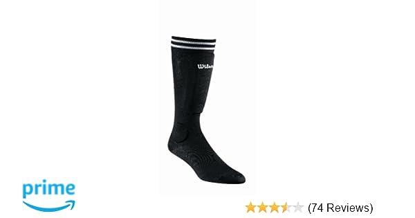 Amazon.com : Wilson Pee Wee Sock Guard (Black) : Soccer Shin Guards : Sports & Outdoors