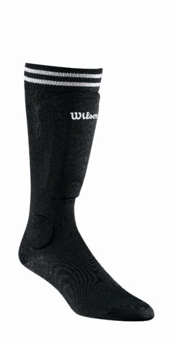 Wilson Pee Wee Sock Guard (Black) (Pee Wee Soccer Shin Guards)
