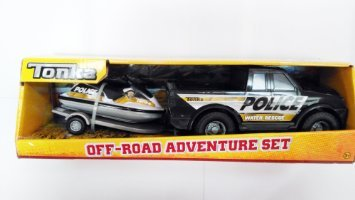 Tonka Off-road Adventure Set Police Water Rescue Pick Up Truck with Matching Jet (Rescue Jet)