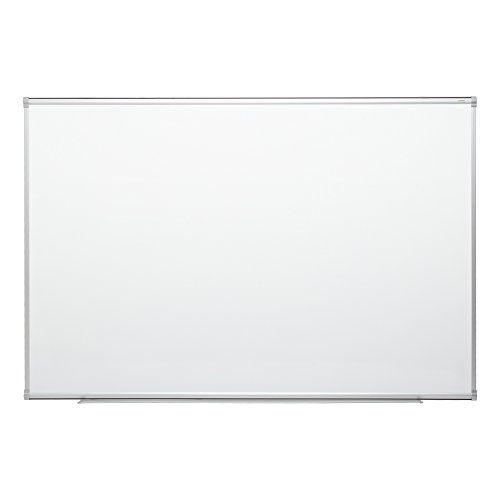 Learniture 4'x6' Porcelain Steel Magnetic Dry Erase Board w/Aluminum Frame & Map Rail 827-SO
