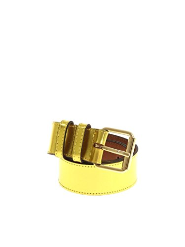 Essentiel Women's Pruneaubeltlc09 Yellow Leather Belt by Essentiel
