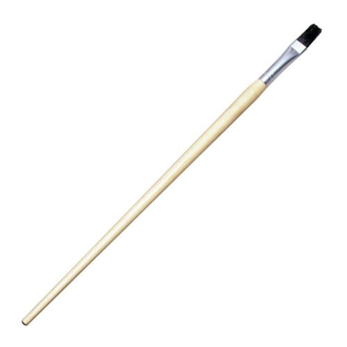 Charles Leonard 73599 Natural Bristle Long Handle Easel Brush With Flat Point44; Size (Flat Long Handle Easel Brush)