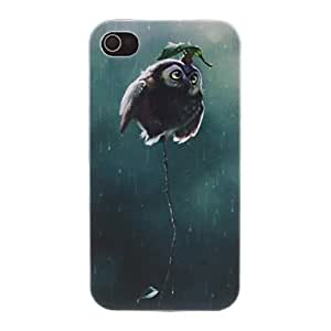 The King of Owl Pattern PC Hard Case for iPhone 4/4S