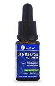 CanPrev D3 and K2 Drops mct Oil Base, 0.5 Ounce