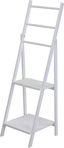 Spetebo Madera Estante blanco 118,5 cm – Macetas con 2 estantes – Escalera estantería macetas Madera Estantería: Amazon.es: Juguetes y juegos