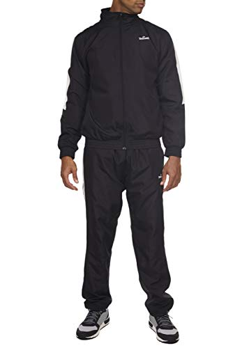 Spalding Pre-Game Hoops Woven Tracksuit Windsuit Black Medium