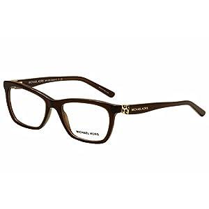Michael Kors MK4026F Eyeglass Frames 3085-53 - Dk Brown Transparent MK4026F-3085-53