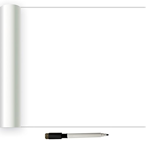 NuWallpaper NU2497 Dry Erase Peel & Stick Wallpaper, White & Off-White