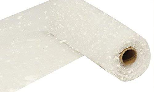 Snow Deco Poly Mesh Ribbon - 10