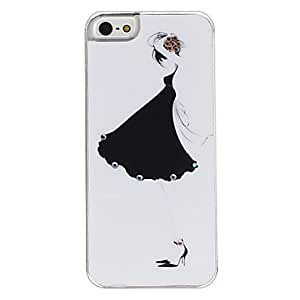 SJT Black Skirt Girl Pattern Hard Case for iPhone 5/5S