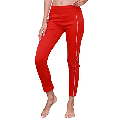 Palestra Tasche Pantalone Yoga Con Donne Elastico Pantalone Rosso Donna Dragon868 Casual qRf0Tw8R