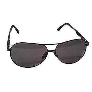 XXL extra large Round Aviator Polarized Sunglasses for big wide heads 150mm (black, black)