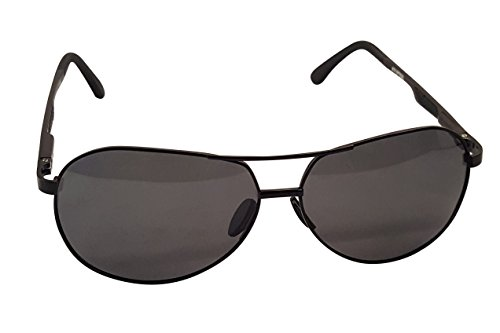 Atx Opitcal XXL Extra Large Round Aviator Polarized Sunglasses for Big Wide Heads 150mm (Black, ()