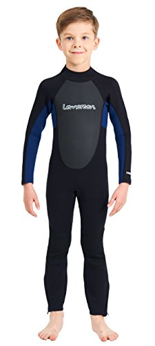 - Lemorecn Wetsuits Youth 3/2 mm Full Diving Suit(4031blackblue10)