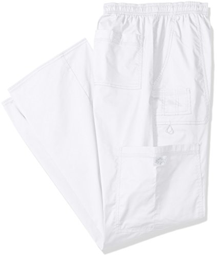 Dickies Men's Big and Tall GenFlex Utility Drawstring Cargo Scrubs Pant, White, XXXX-Large