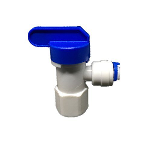 """PureSec 1/4""""x1/4"""" RO Water Tank Storage Ball Valve Elbow Quick Connect Parts Water Filters / Reverse Osmosis System(Pack of 5)"""