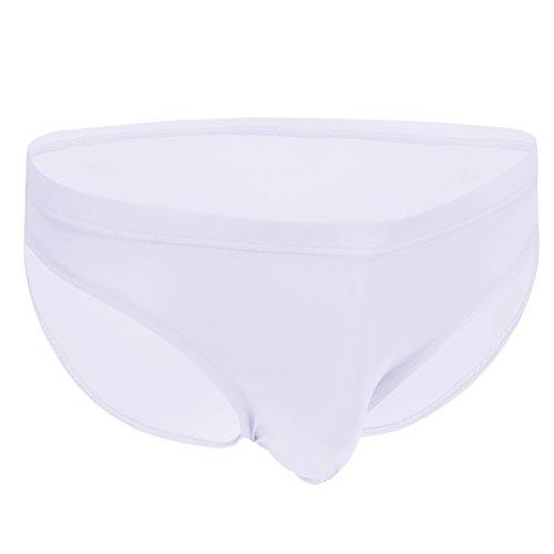 Silk Knit Thong Underwear - Mens Ultra Thin Soft Low Rise Briefs Breathable Ice Silk Triangle Bikini Brief Sport Pouch Sexy Underwear