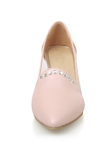 ZQ Zapatos de mujer-Tac¨®n Robusto-Tacones / Puntiagudos-Tacones-Oficina y Trabajo / Casual-PU-Azul / Rosa / Morado / Beige , purple-us10.5 / eu42 / uk8.5 / cn43 , purple-us10.5 / eu42 / uk8.5 / cn43 blue-us7.5 / eu38 / uk5.5 / cn38