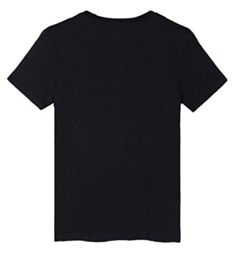 Tee DJ Maglietta SIMYJOY Teen Fans Marshmello T Top C Shirt Unisex Suono Donna Nero Cool per Uomo Hip Elettrico Pop qf55OWwAr